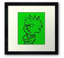 calvin and hobbes: eeeewwww Framed Print