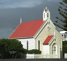 Country Church George Town Tasmania Australia by Sandra  Sengstock-Miller