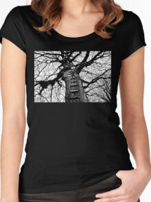 The Ladder (dark ink) Women's Fitted Scoop T-Shirt