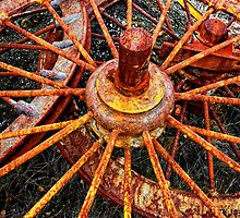 Rusty wheels. by Victor Pugatschew