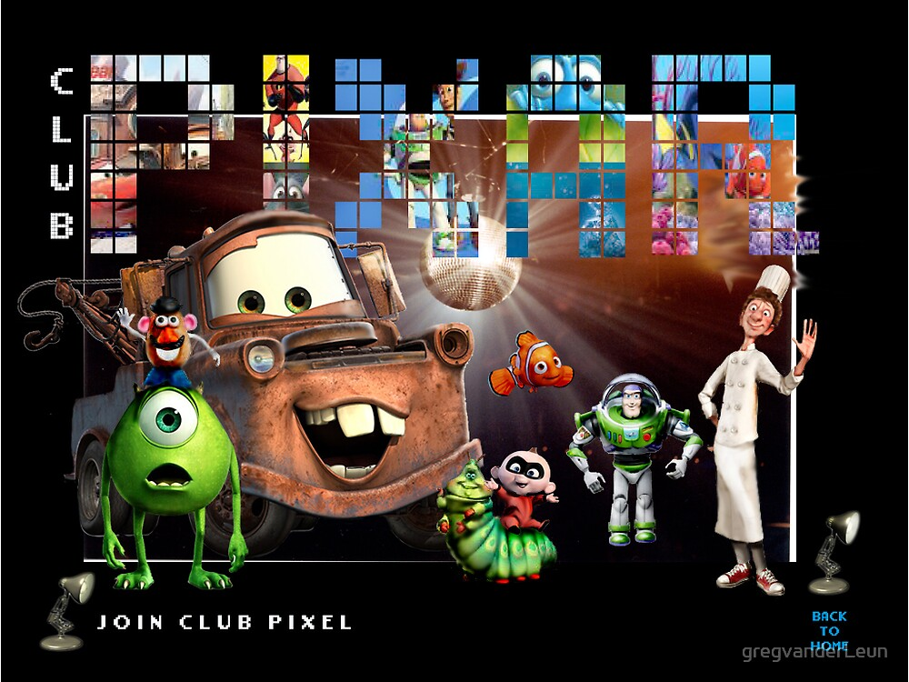 Club Pixar page by gregvanderLeun