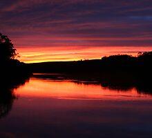 Murray River sunrise by Des Berwick