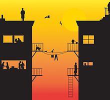 City life by Jaïr Van Brussel