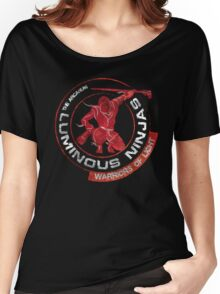 Luminous Ninjas - On Red (Textured) Women's Relaxed Fit T-Shirt