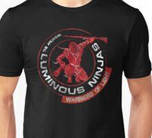 Luminous Ninjas - On Red (Textured) Unisex T-Shirt
