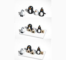 Robo penguin researching real penguins who rate him for realism and throw snow balls at him Unisex T-Shirt