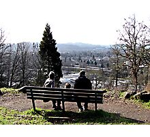 Park Bench On Top of the Butte Photographic Print