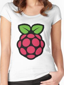 raspberry pi  Women's Fitted Scoop T-Shirt
