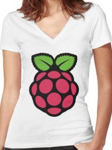 raspberry pi  Women's Fitted V-Neck T-Shirt