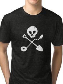 Detectorist Skull - Sondengaenger Schaedel  Tri-blend T-Shirt