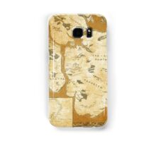 Fantasy Map of New York City: Gold Parchment Samsung Galaxy Case/Skin