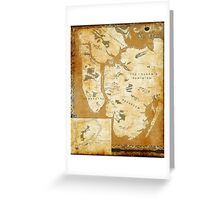 Fantasy Map of New York City: Gold Parchment Greeting Card