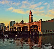 N J Transit Clock Tower Hoboken by pmarella