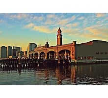 N J Transit Clock Tower Hoboken Photographic Print