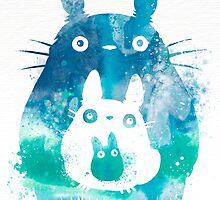 My Neighbor Totoro Watercolor  by ploveprints