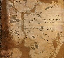 Fantasy Map of New York City: Gritty Parchment by MidgardMaps