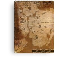 Fantasy Map of New York City: Gritty Parchment Canvas Print