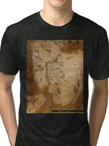 Fantasy Map of New York City: Gritty Parchment Tri-blend T-Shirt