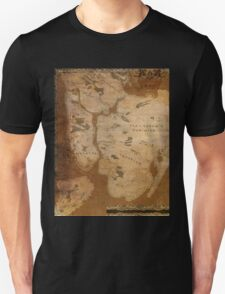 Fantasy Map of New York City: Gritty Parchment T-Shirt
