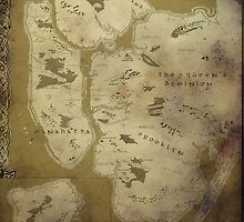 Fantasy Map of New York City: Dirty Parchment by MidgardMaps