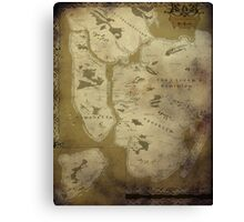 Fantasy Map of New York City: Dirty Parchment Canvas Print