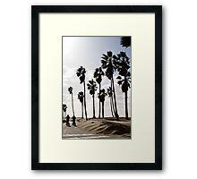 Beach Travellers Framed Print