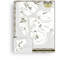 Fantasy Map of New York City: Modern Canvas Print