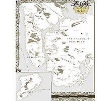 Fantasy Map of New York City: Modern Photographic Print