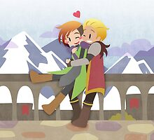 Dragon Age - Cullen and Lavellan [Commission] by chocominto