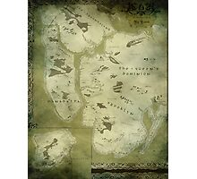 Fantasy Map of New York City: Green Parchment Photographic Print