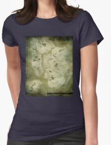 Fantasy Map of New York City: Green Parchment Womens Fitted T-Shirt