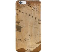 Fantasy Map of Brooklyn: Gritty Parchment iPhone Case/Skin