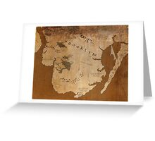 Fantasy Map of Brooklyn: Gritty Parchment Greeting Card