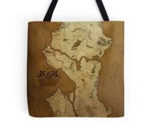 Fantasy Map of Seattle: Brown Parchment Tote Bag