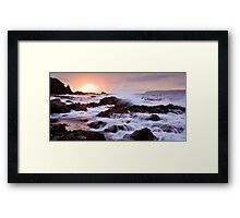 Rough Cove Marble Framed Print