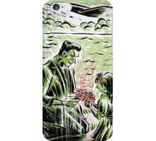 Frankenstein Boris Karloff girl flower classic picture show movie film hollywood famous monster of filmland iPhone Case/Skin