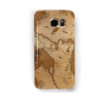 Fantasy Map of Seattle: Gritty Parchment Samsung Galaxy Case/Skin