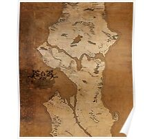 Fantasy Map of Seattle: Gritty Parchment Poster