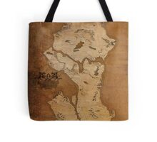 Fantasy Map of Seattle: Gritty Parchment Tote Bag