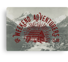 Weekend Adventurers Club Canvas Print