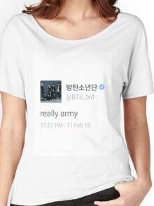 bts really army Women's Relaxed Fit T-Shirt