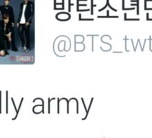 bts really army Sticker
