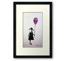 Balloon Girl Framed Print