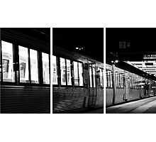 Triptych train. Photographic Print