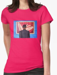 Man with bowler in front of nude Womens Fitted T-Shirt