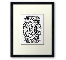OWL FOR COLOURING-IN  Framed Print