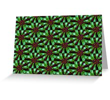 Flower Power in Green Greeting Card