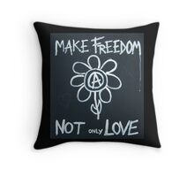 Make freedom - Anarchy Flower Throw Pillow