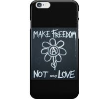 Make freedom - Anarchy Flower iPhone Case/Skin
