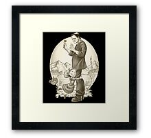 Monster Hug Framed Print